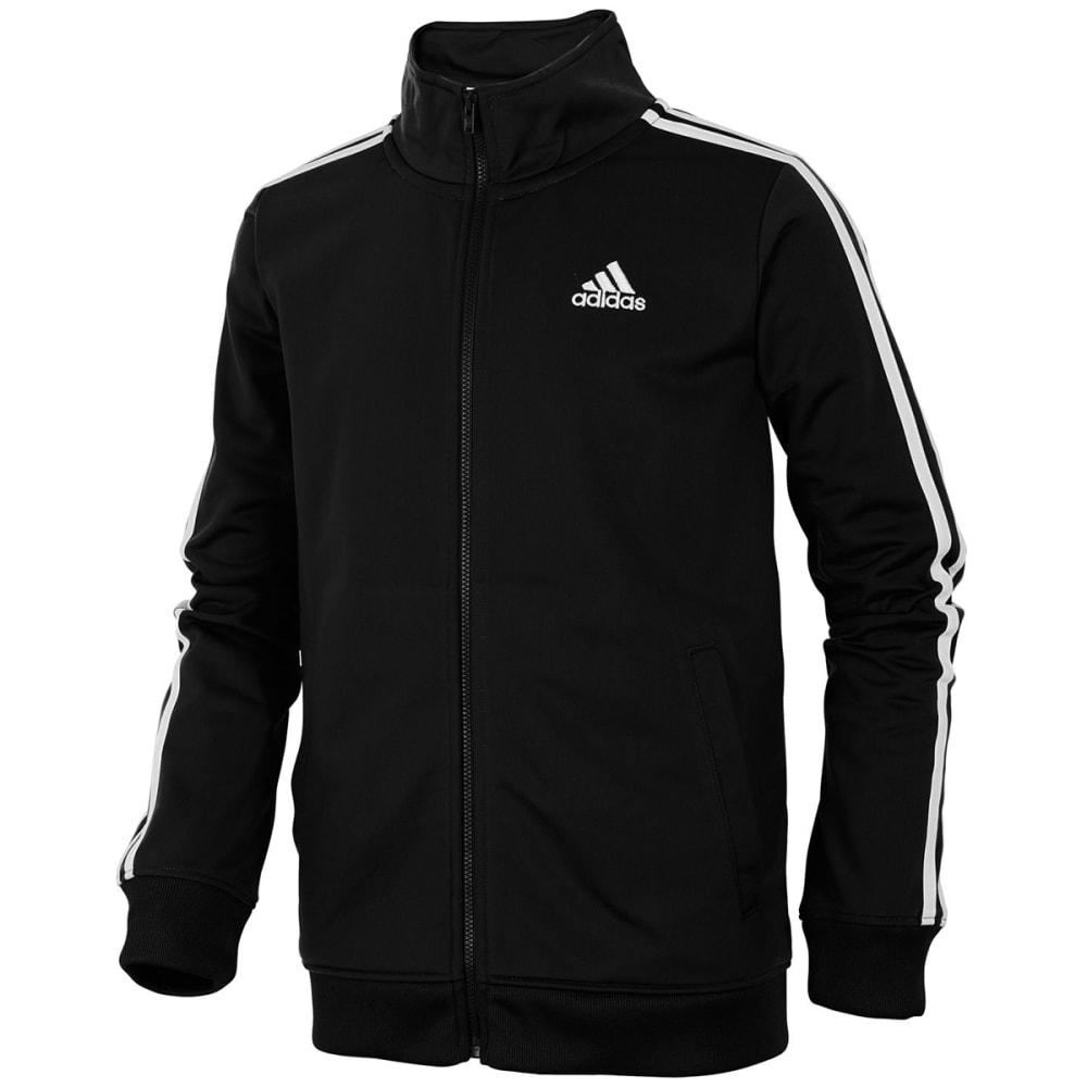 ADIDAS Big Boys' Iconic Tricot Track Jacket - BLACK-AK01