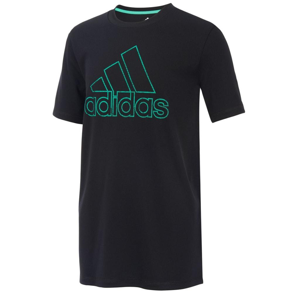 ADIDAS Little Boys' Pattern Fill Logo Short-Sleeve Tee 4