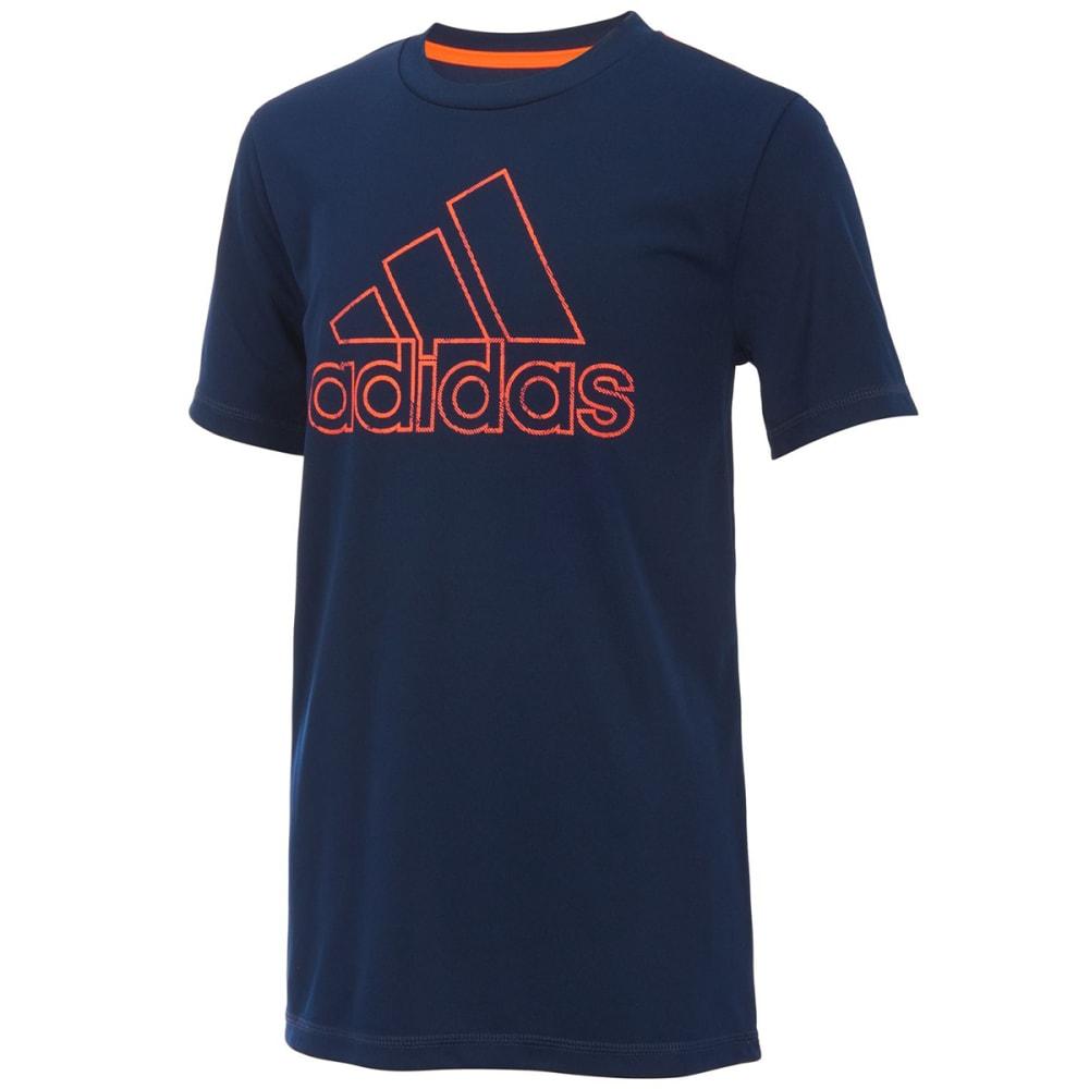 ADIDAS Little Boys' Pattern Fill Logo Short-Sleeve Tee - COL NAVY-AB02