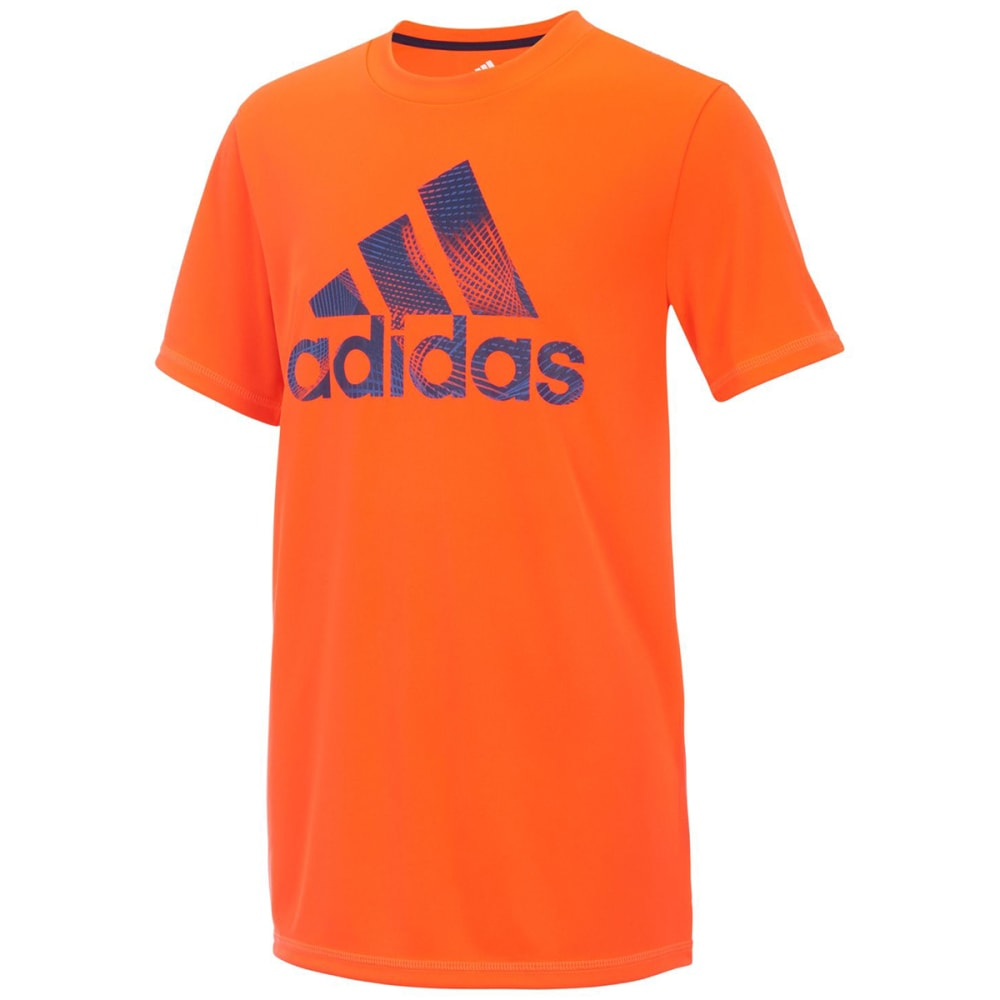 ADIDAS Little Boys' Pattern Fill Logo Short-Sleeve Tee - SOLAR RED-AR105