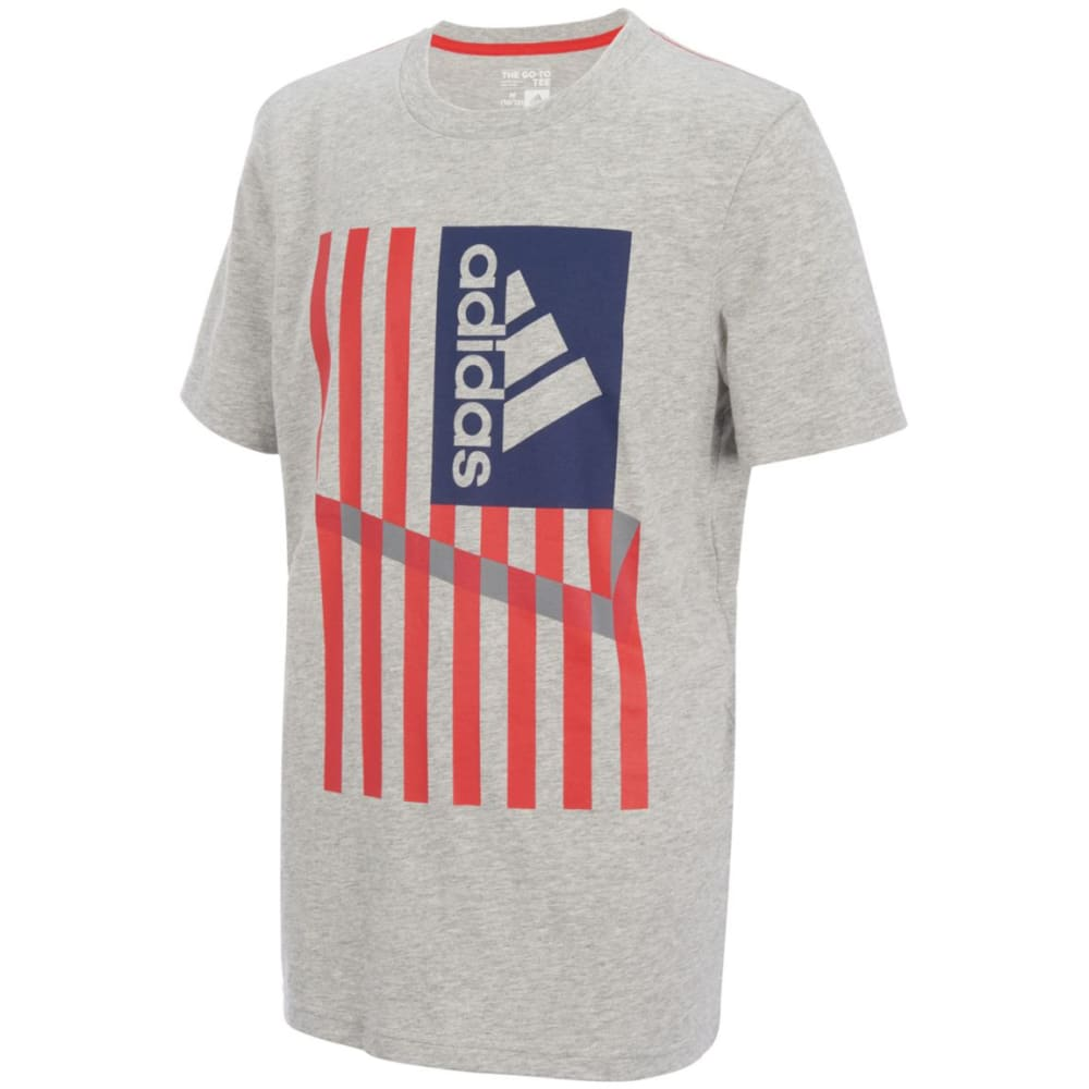 ADIDAS Little Boys' USA Short-Sleeve Tee - GREY HTR-H01