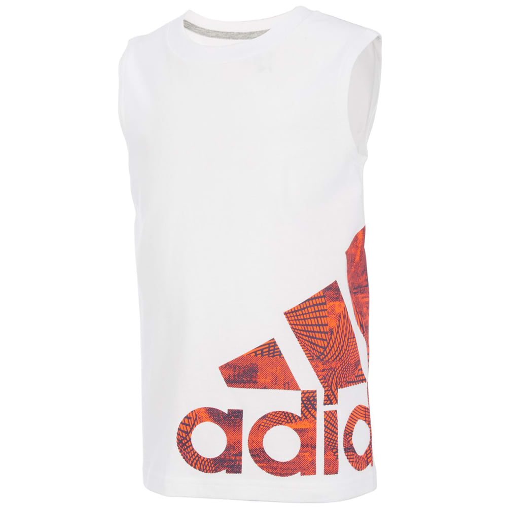 ADIDAS Little Boys' Supreme Speed Logo Tank Top - WHITE-W01