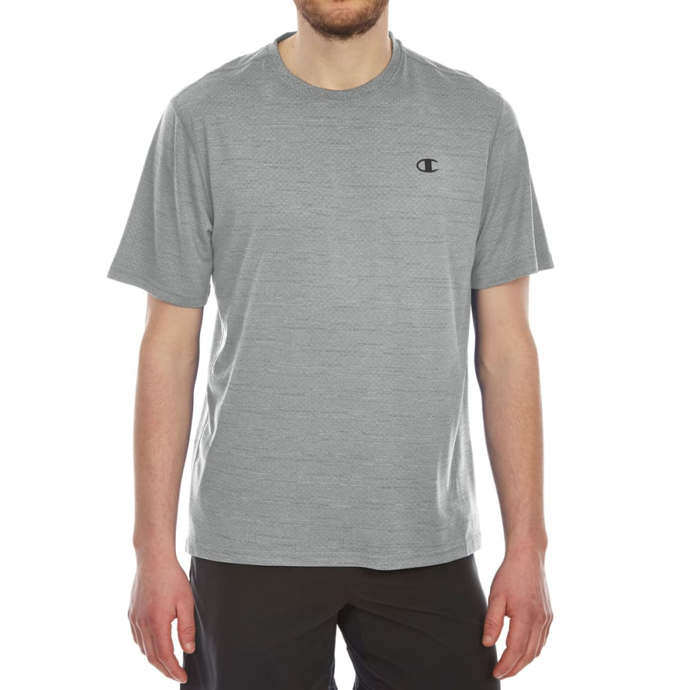 5dc703be5 CHAMPION Men's Double Dry Heather Mesh Short-Sleeve Tee - CONCRETE