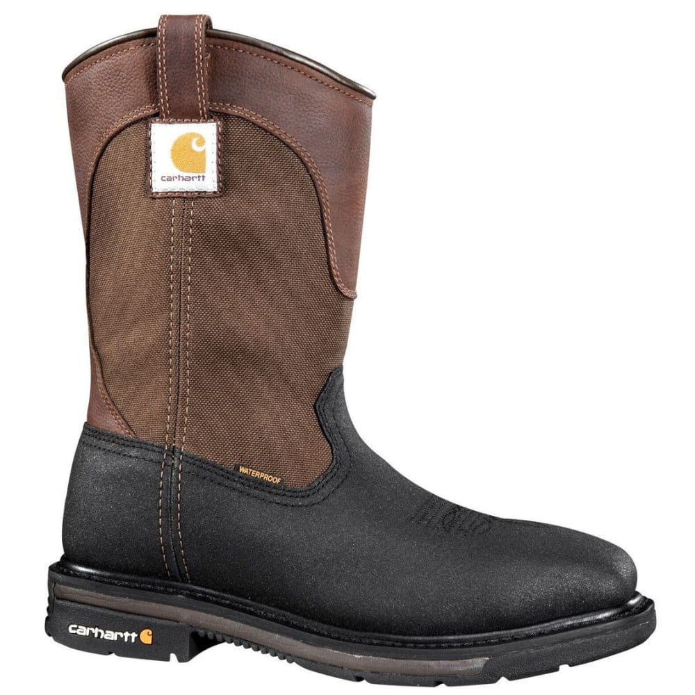 CARHARTT Men's 11-Inch Safety Toe, Square Toe Wellington Boots, Brown/Black 8