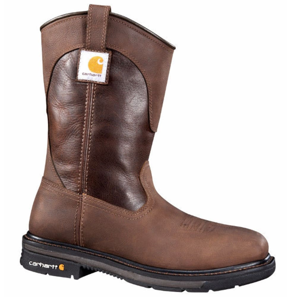CARHARTT Men's 11-Inch Safety Toe, Square Toe Wellington Boots, Brown - BROWN/DK BROWN