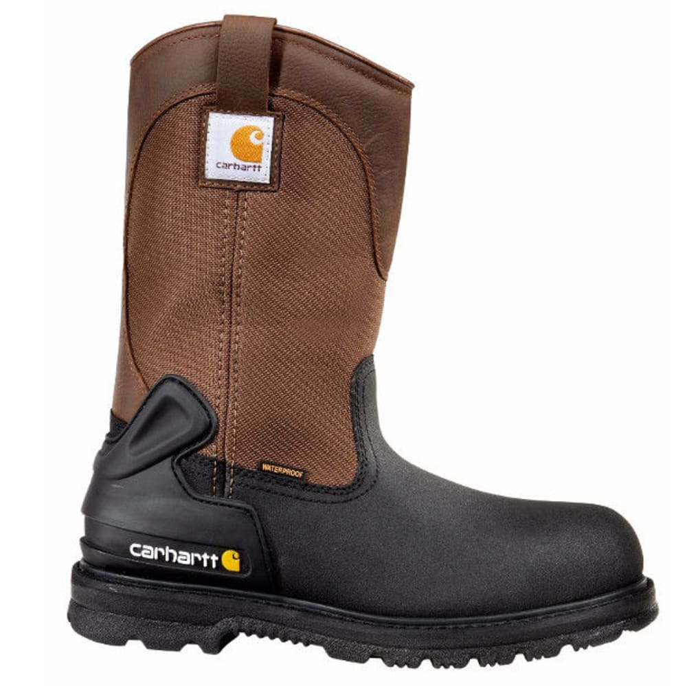 CARHARTT Men's 11-Inch Insulated Safety Toe Wellington Boots, Brown/Black - BROWN/BLACK