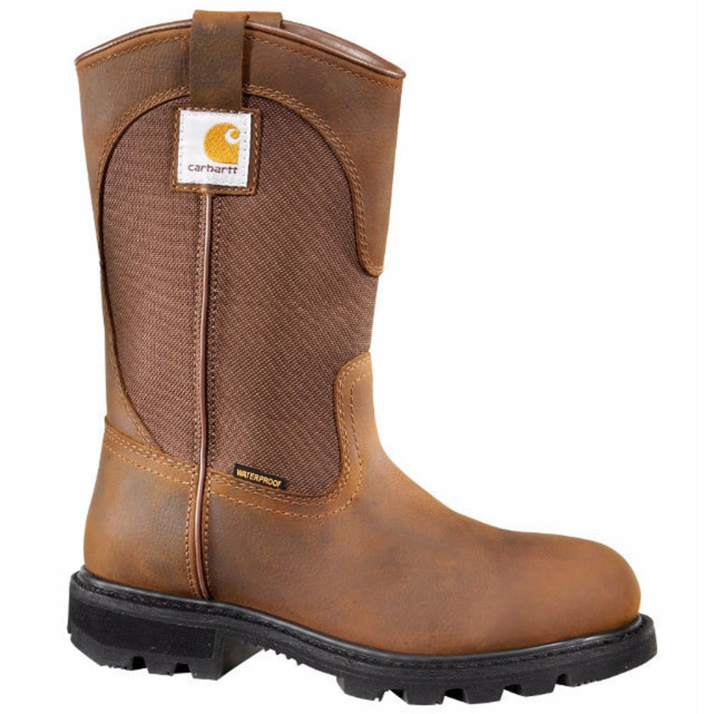 CARHARTT Women's 10-Inch Non Safety Wellington Boots, Bison Brown - BISON BROWN OIL TAN