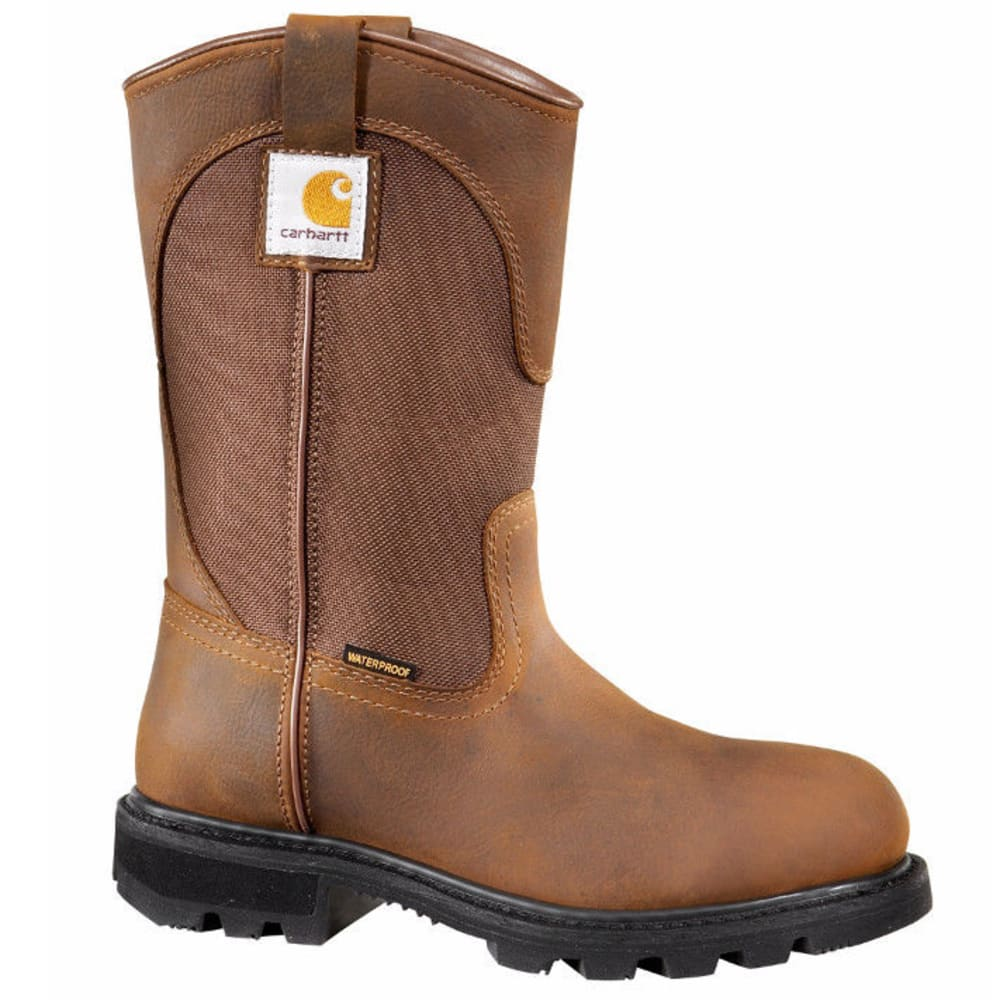 CARHARTT Women's 10-Inch Safety Toe Wellington Boots, Bison Brown - BISON BROWN OIL TAN