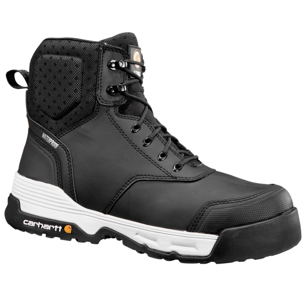 CARHARTT Men's 6-Inch Force Work Boots, Black - BLACK COATED LTHR