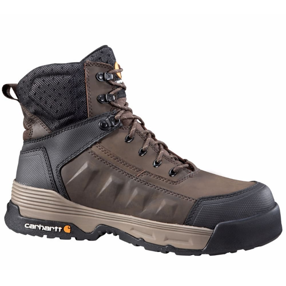 CARHARTT Men's 6-Inch Force Work Boots, Brown - BROWN COATED LTHR