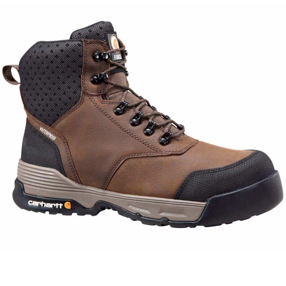 CARHARTT Men's 6-Inch Force Work Boots, Light Brown - DK BISON OIL TANNED