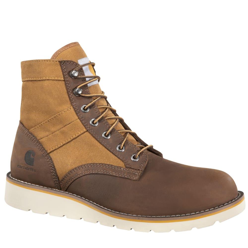 CARHARTT Men's 6-Inch Wedge Boots, Brown - BROWN LTHR
