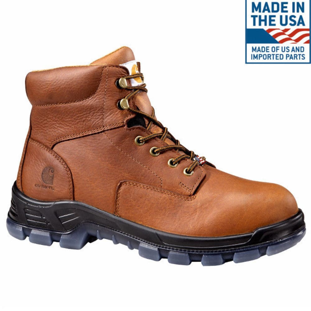 CARHARTT Men's 6-Inch Made In The USA Work Boots, Brown - BROWN OIL TANNED