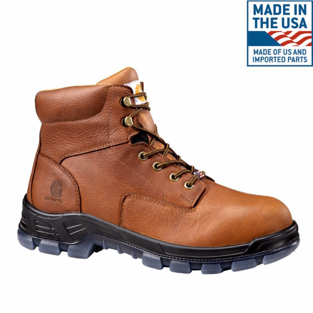 CARHARTT Men's 6-Inch Work Boots, Brown - BROWN OIL TANNED