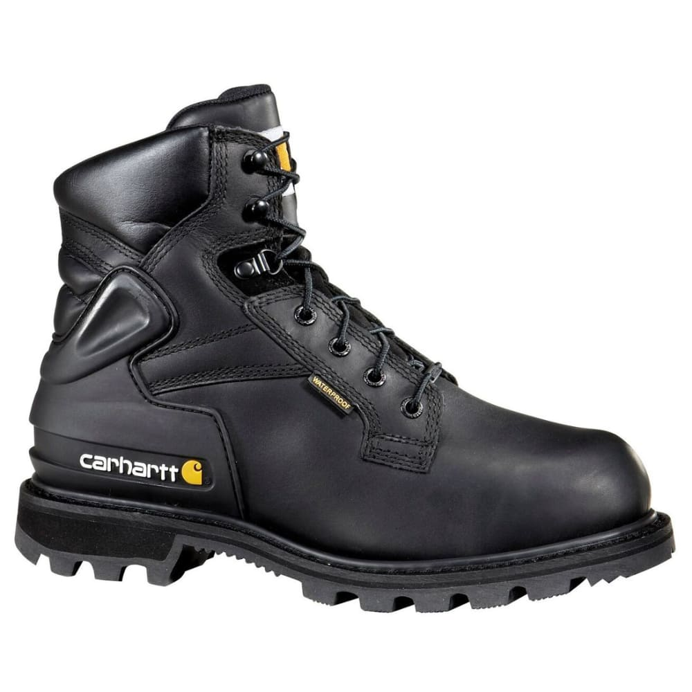 CARHARTT Men's 6-Inch Internal Met Guard, Safety Toe Boots, Black - BLACK OIL TANNED