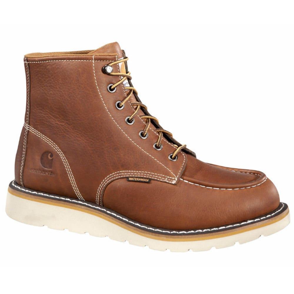 CARHARTT Men's 6-Inch Wedge Boots, Tan - SOFT TAN FULL LTHR