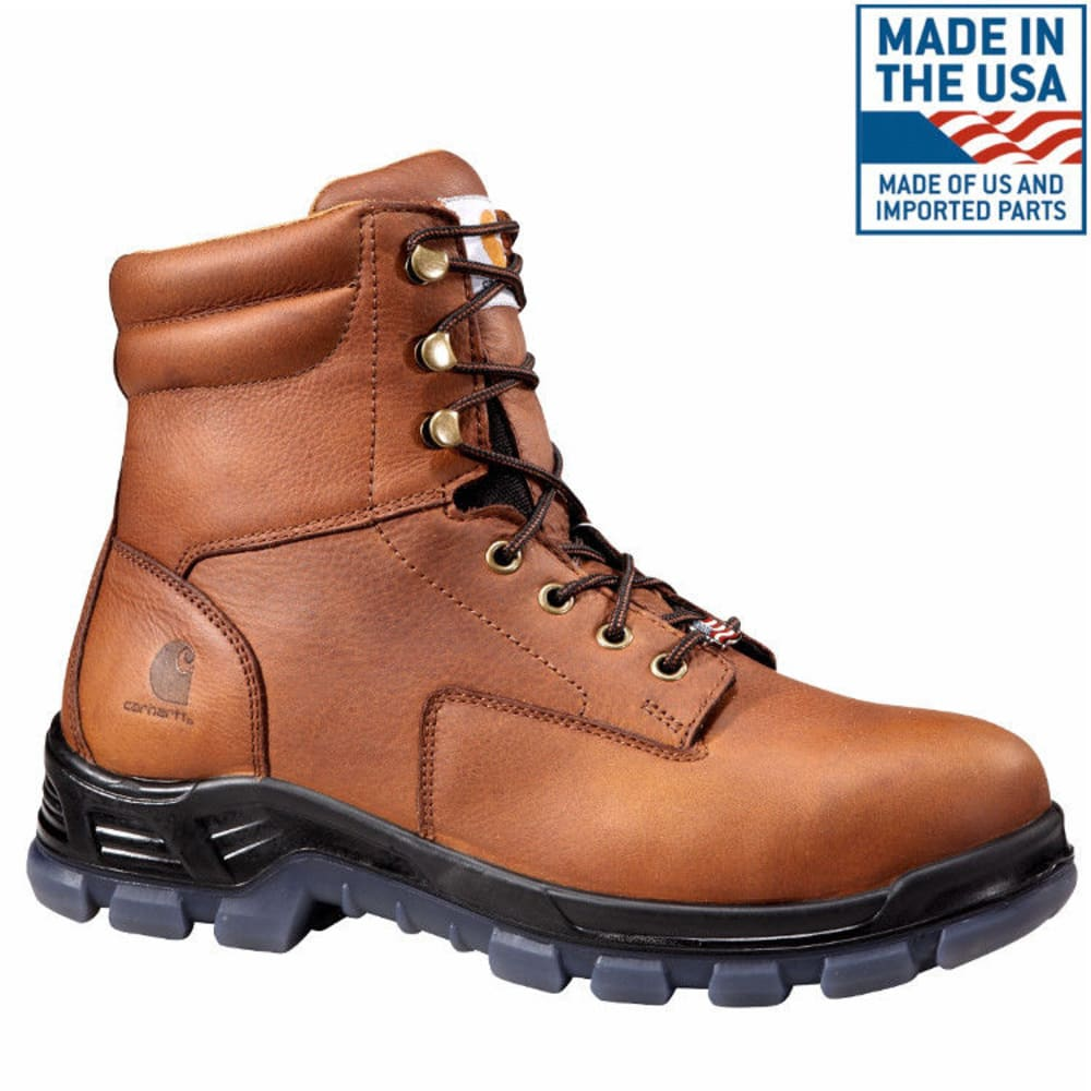 CARHARTT Men's 8-Inch Work Boots, Brown - BROWN OIL TANNED