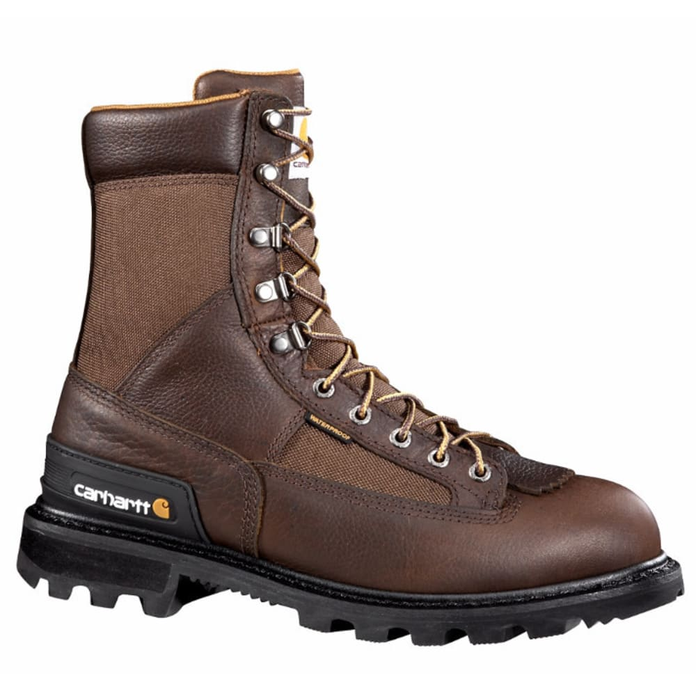 CARHARTT Men's 8-Inch Safety Toe Work Boots, Camel Brown - CAMEL BROWN OIL