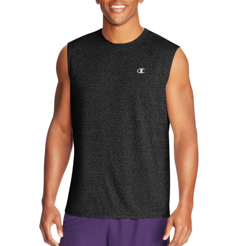 CHAMPION Men's Double Dry Vapor Muscle Tee - BLACK-KVP