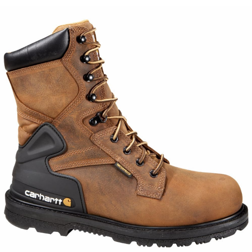 CARHARTT Men's 8-Inch Non Safety Toe Work Boots, Bison Brown - BISON BROWN OIL TAN