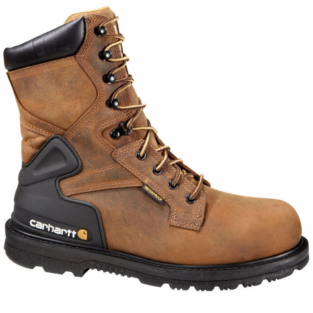 CARHARTT Men's 8-Inch Safety Toe Work Boots, Bison Brown - BISON BROWN OIL TAN
