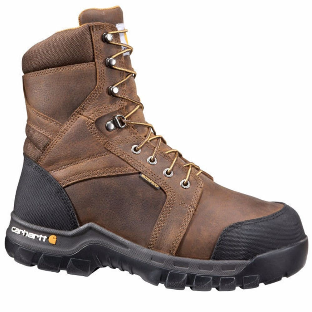 CARHARTT Men's 8-Inch International Met Guard Work Boots, Dark Brown - DK BROWN OIL TANNED