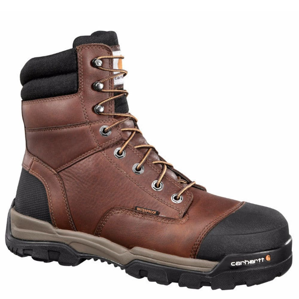 CARHARTT Men's 8-Inch Ground Force Work Boots, Brown - PEANUT OIL TAN LTHR