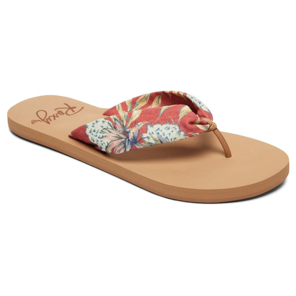 ROXY Women's Paia Flip Flops - PAIA RED-RED