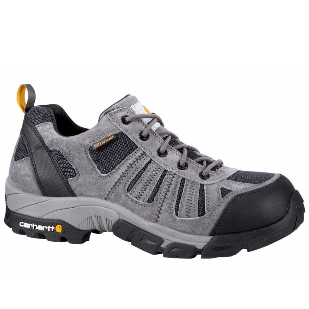 CARHARTT Men's Lightweight Low-Rise Non Safety Toe Work Hiker Boots, Grey/Navy - GREY SUEDE/NAVY MESH
