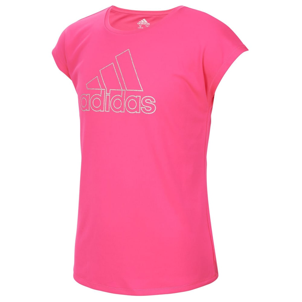Adidas Big Girls' Graphic Short-Sleeve Tee - Red, XL