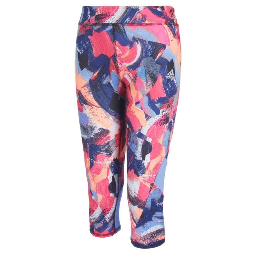 ADIDAS Big Girls' Alpha Printed Capri Tights - SPLICED PAINT-AP265
