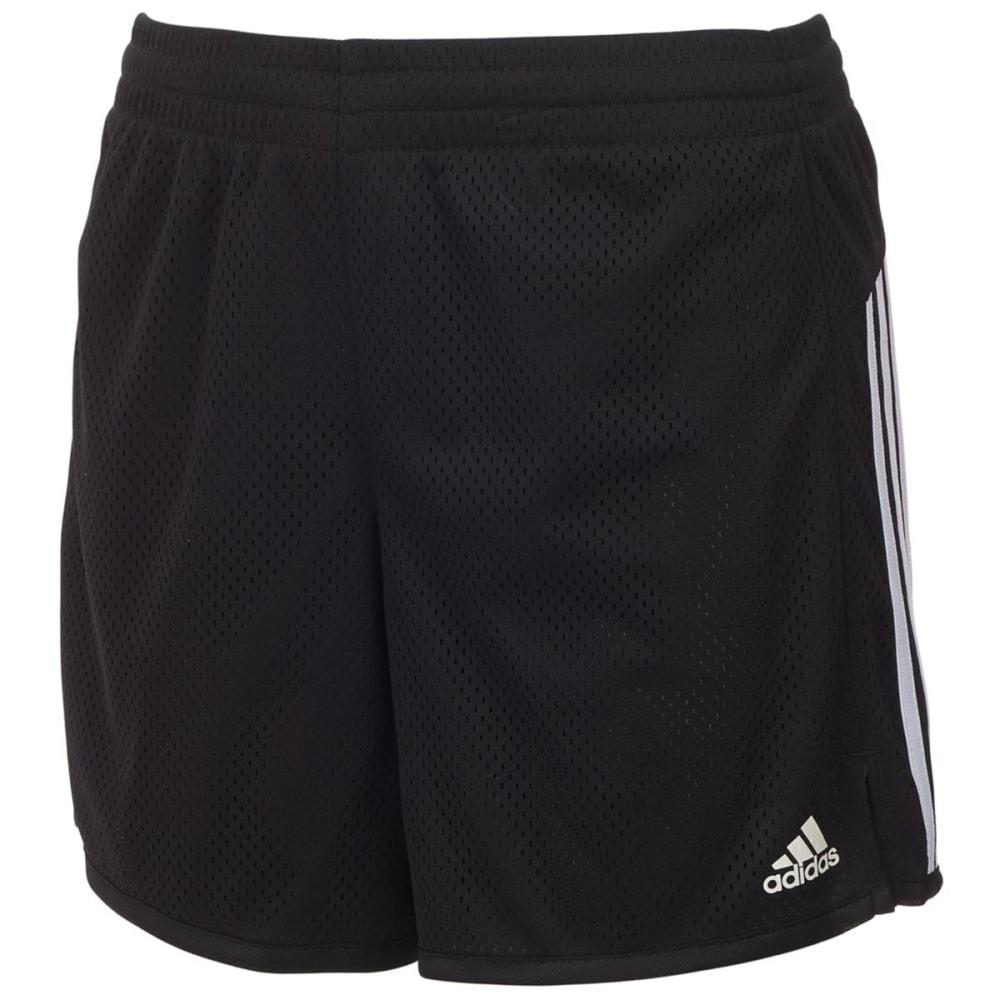 Adidas Big Girls' 5 In. Mesh Shorts - Black, M