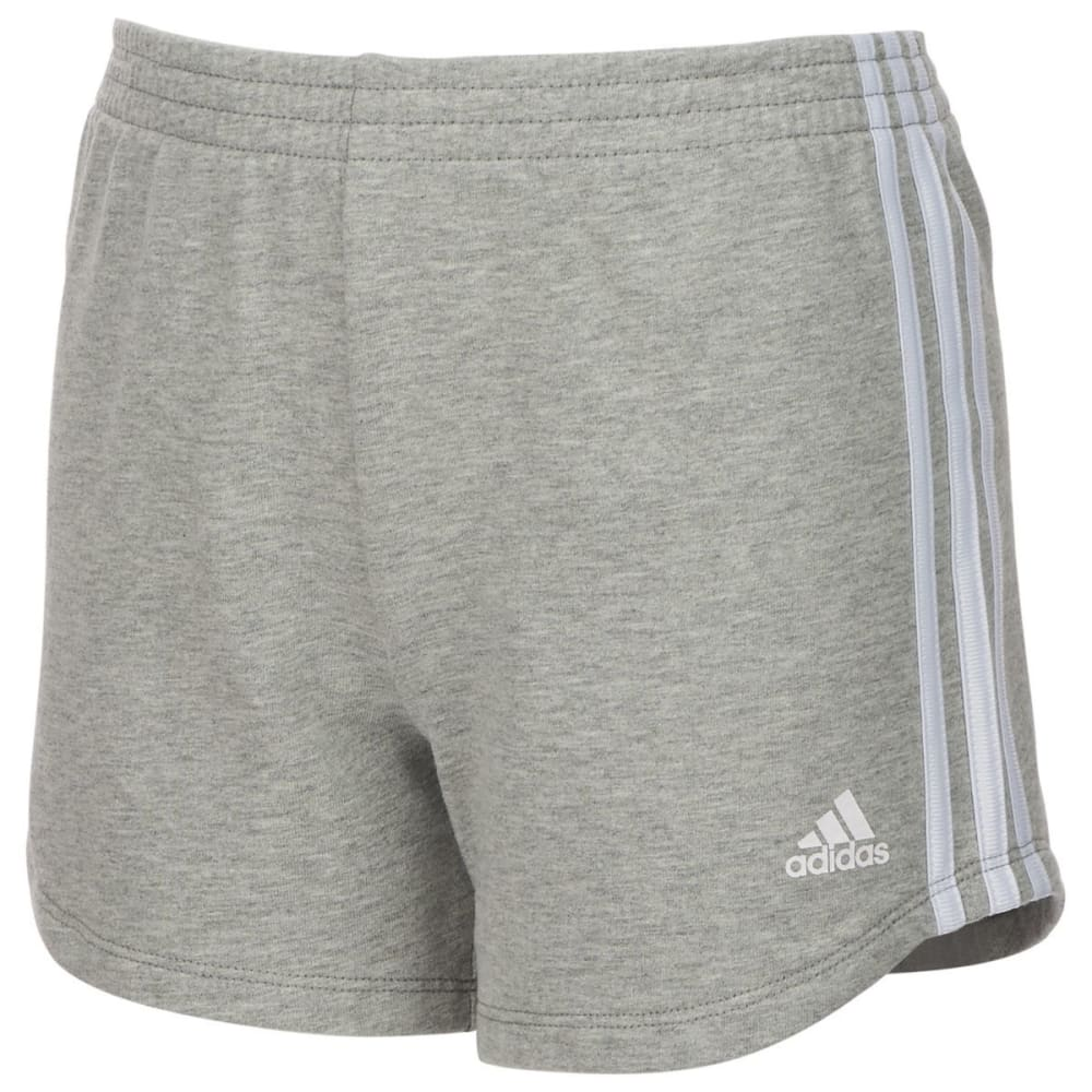 ADIDAS Big Girls' Sport Shorts - GREY HEATHER-H01