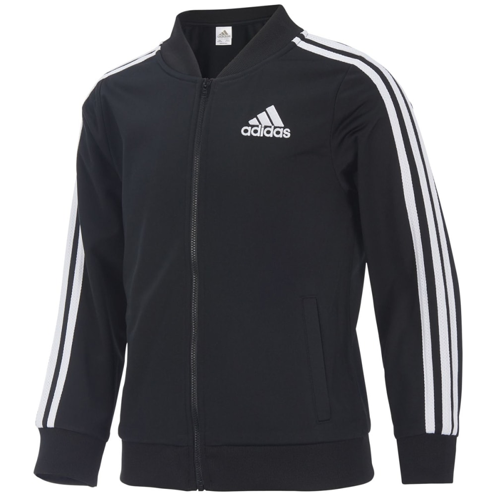 ADIDAS Big Girls' Tricot Bomber Jacket - BLACK-AK01