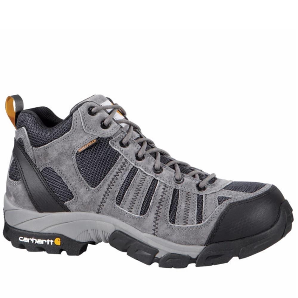 CARHARTT Men's Lightweight Composite Toe Work Hiker Boots, Grey/Navy - GREY SUEDE/NAVY MESH
