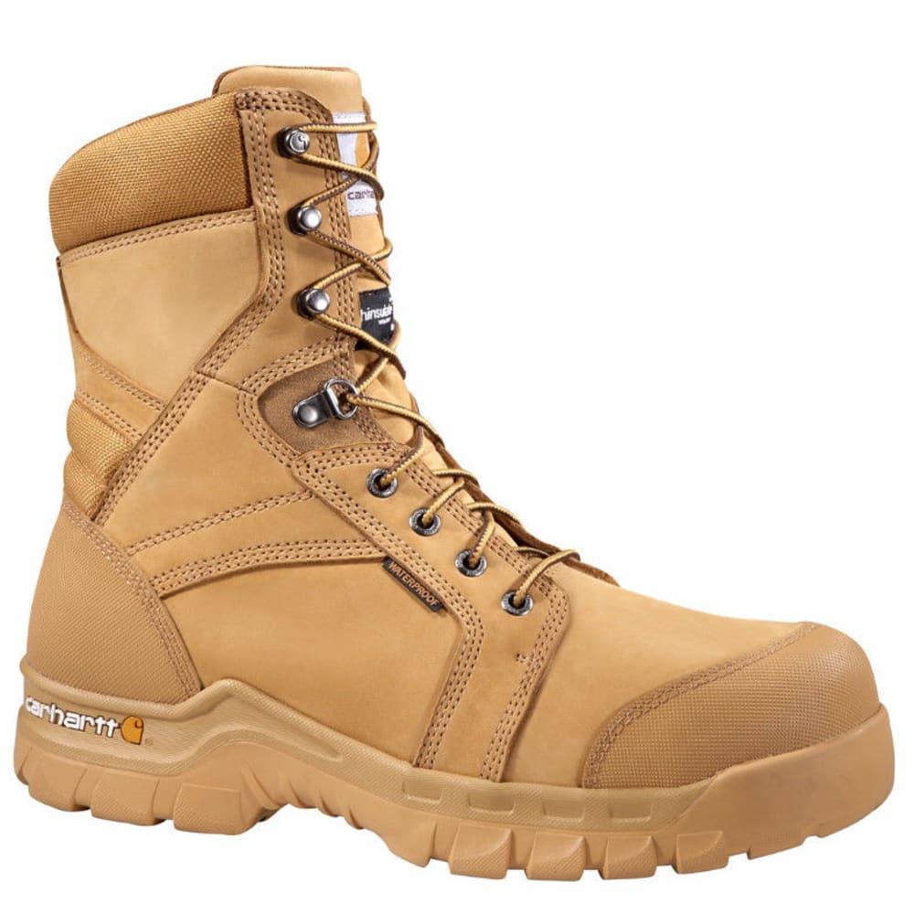 Carhartt Men's 8-Inch Rugged Flex Insulated Work Boots, Wheat - Brown, 14