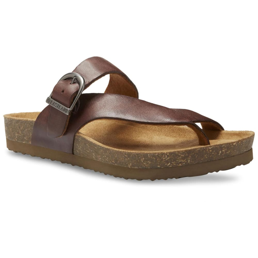 EASTLAND Women's Shauna Adjustable Thong Sandals - NATURAL LEATHER-08