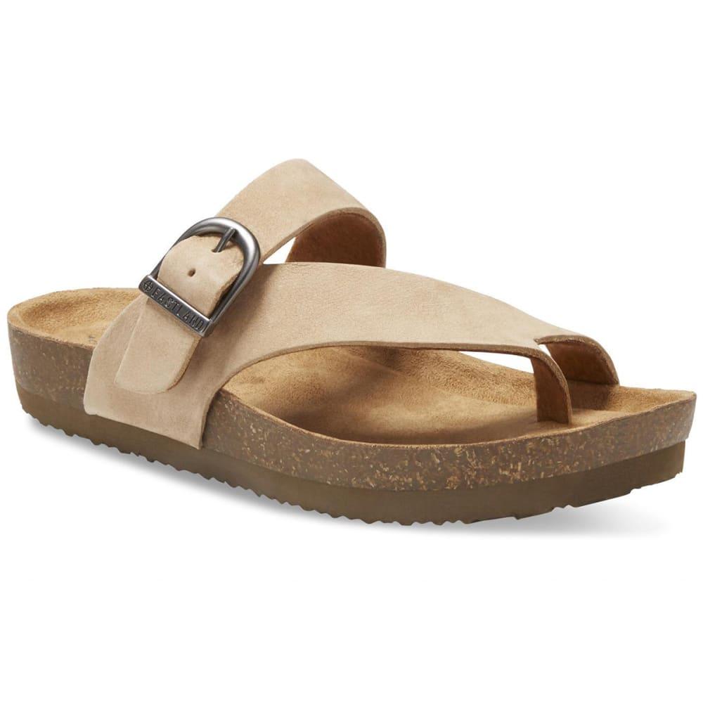 EASTLAND Women's Shauna Adjustable Thong Sandals - SANDSTONE NUBUC-55