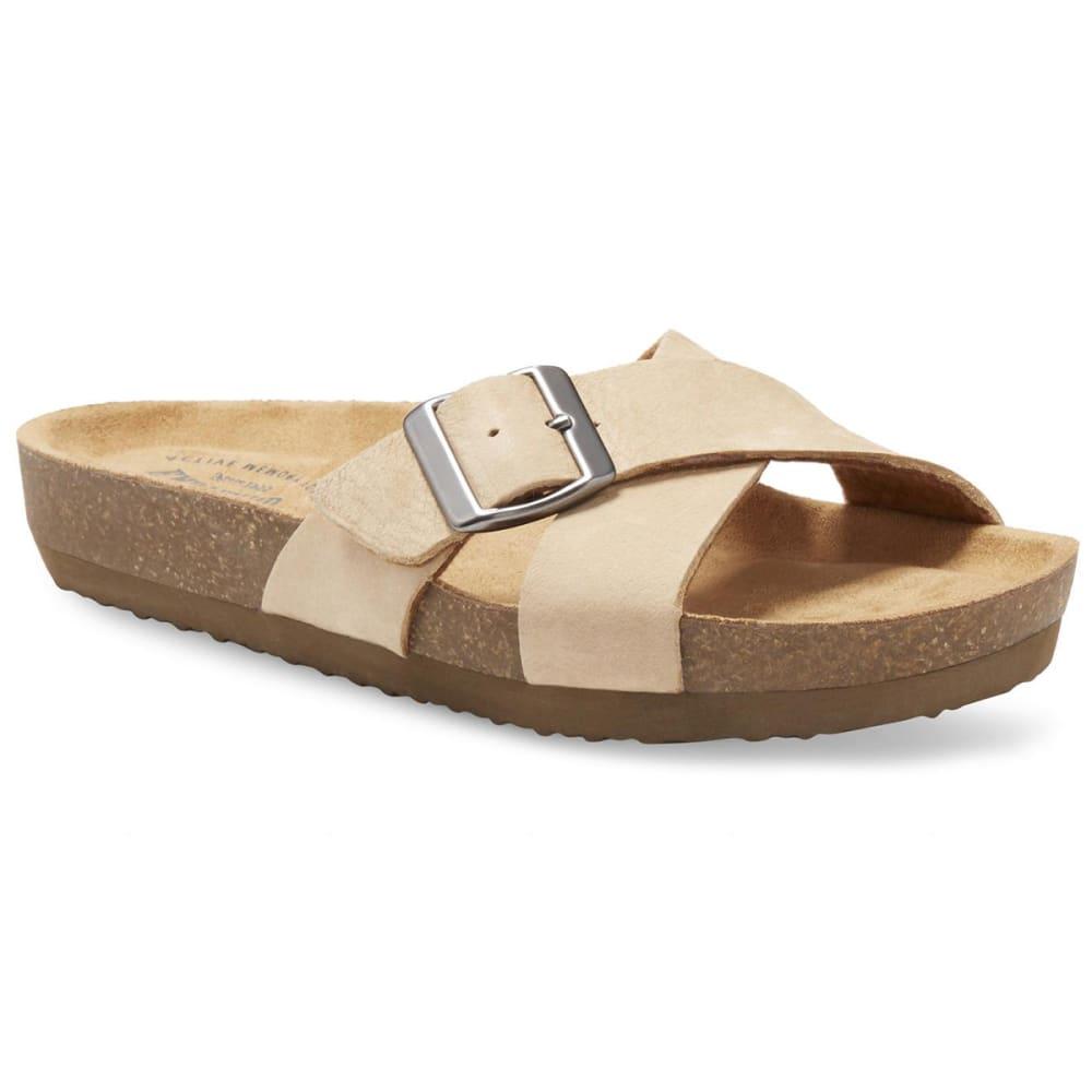 EASTLAND Women's Kelley Crisscross Slide Sandals - SANDSTONE NUBUC-55