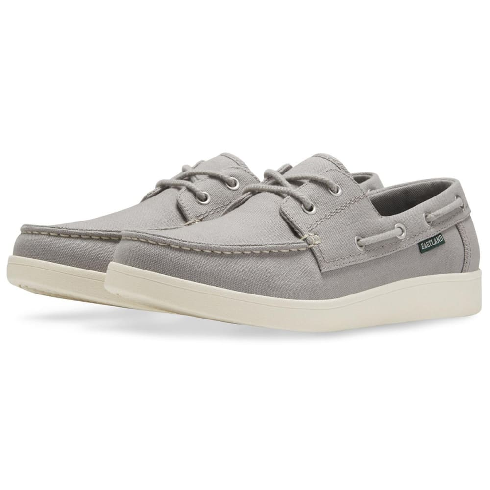 EASTLAND Men's Popham Canvas Boat Shoes - GREY CANVAS-73