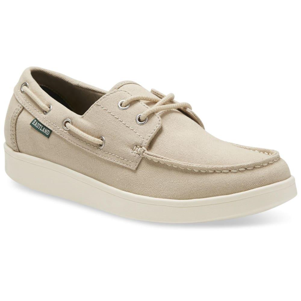EASTLAND Men's Popham Canvas Boat Shoes - KHAKI CANVAS-08
