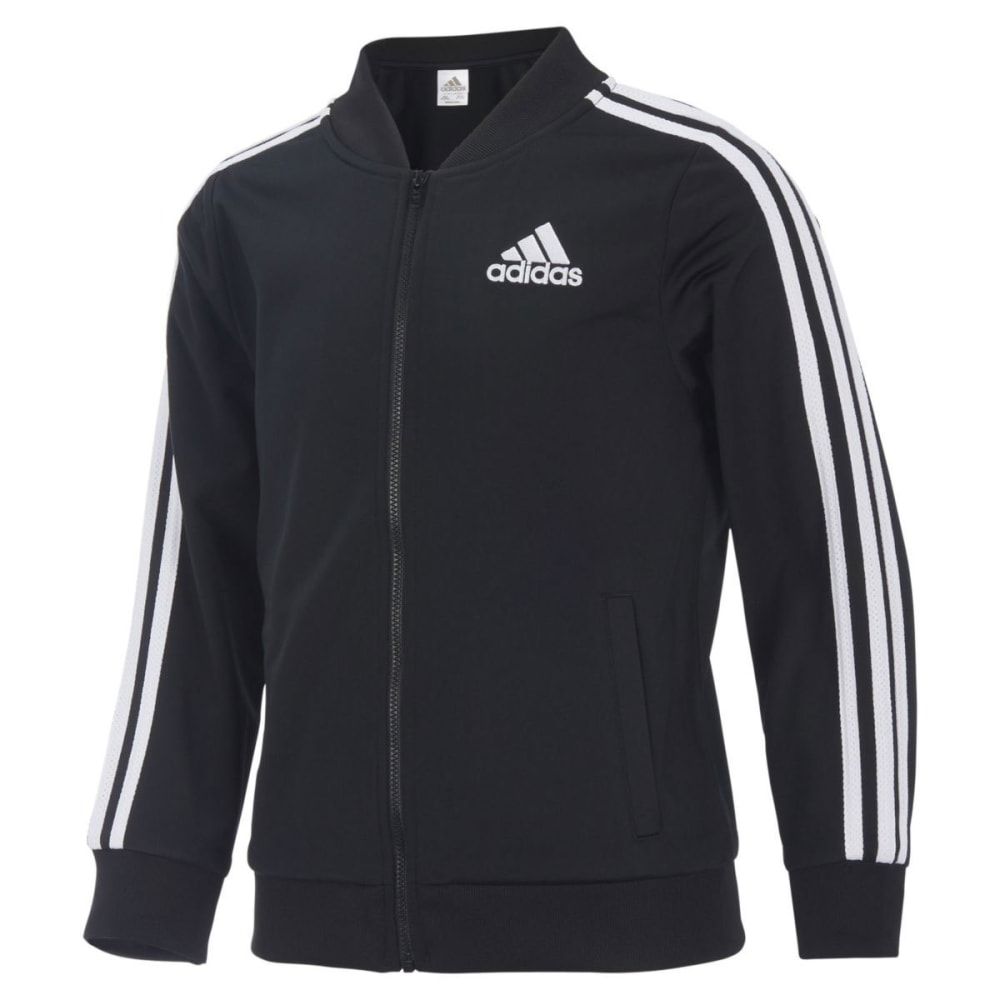 ADIDAS Little Girls' Tricot Bomber Jacket - BLACK-AK01