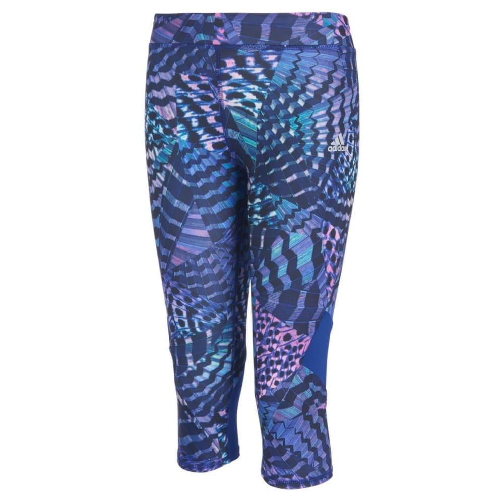 ADIDAS Girls' Alpha Printed Capri Tights 6