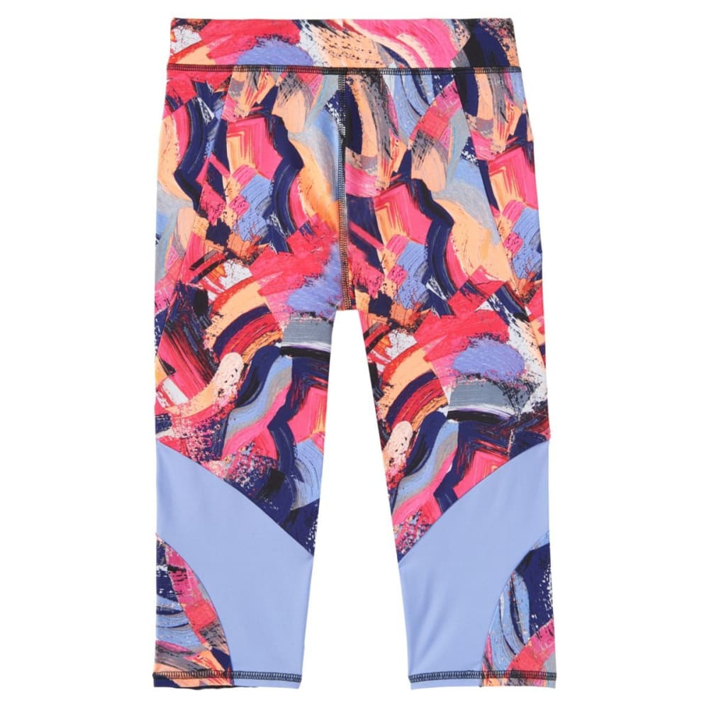 ADIDAS Girls' Alpha Printed Capri Tights - PAINT PRINT-AP265