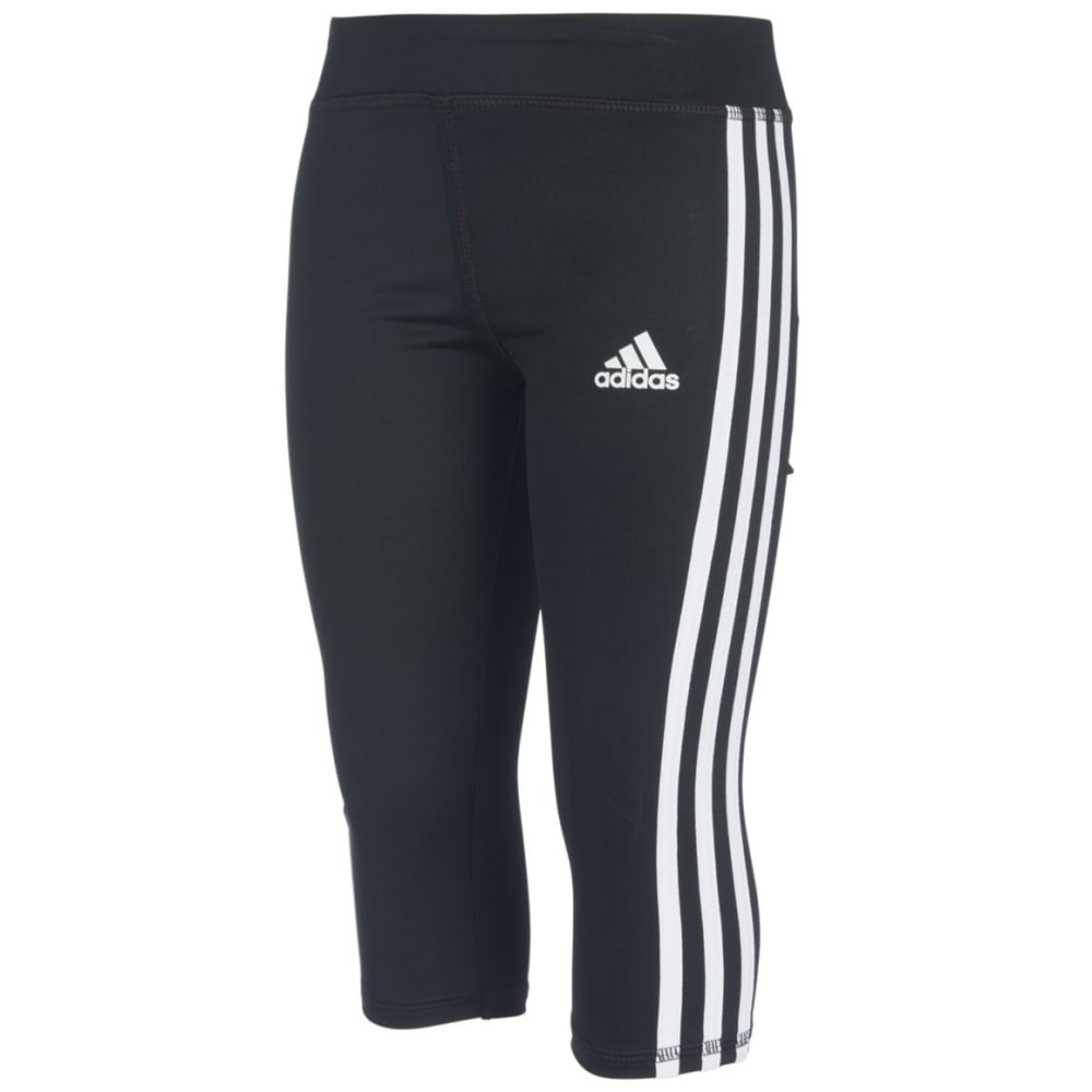 ADIDAS Little Girls' D2M Capri Tights 6