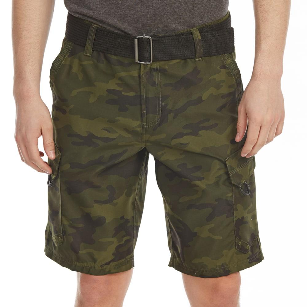BURNSIDE Guys' Taslon Cargo Shorts - ARMY CAMO