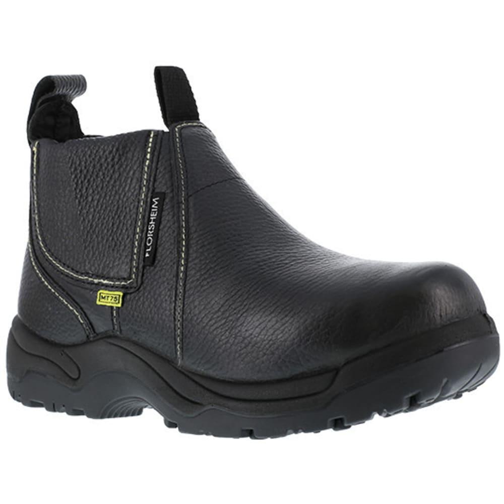 """FLORSHEIM WORK Men's Hercules Steel Toe Quick Release 6"""" Metatarsal Work Boot, Black - BLACK"""