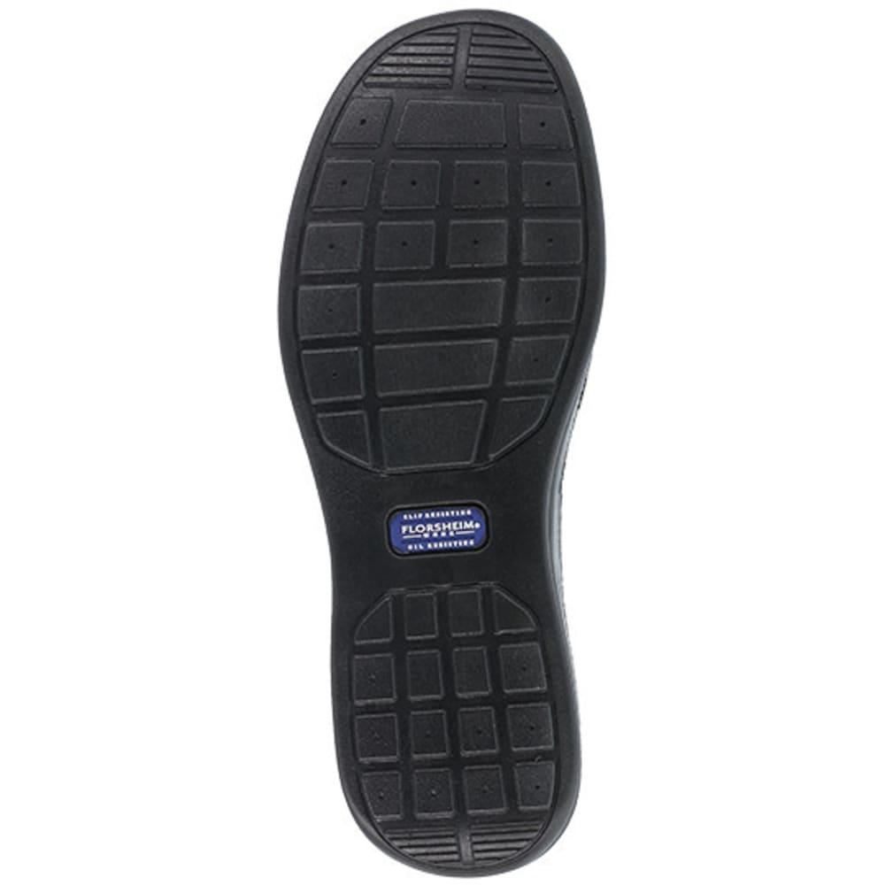FLORSHEIM WORK Men's Wily Steel Toe Moc Toe Lace Up Shoe, Black - BLACK