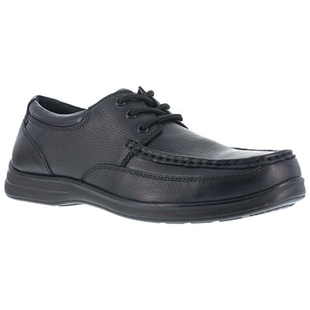 FLORSHEIM WORK Men's Wily Steel Toe Moc Toe Lace Up Shoe, Black 6