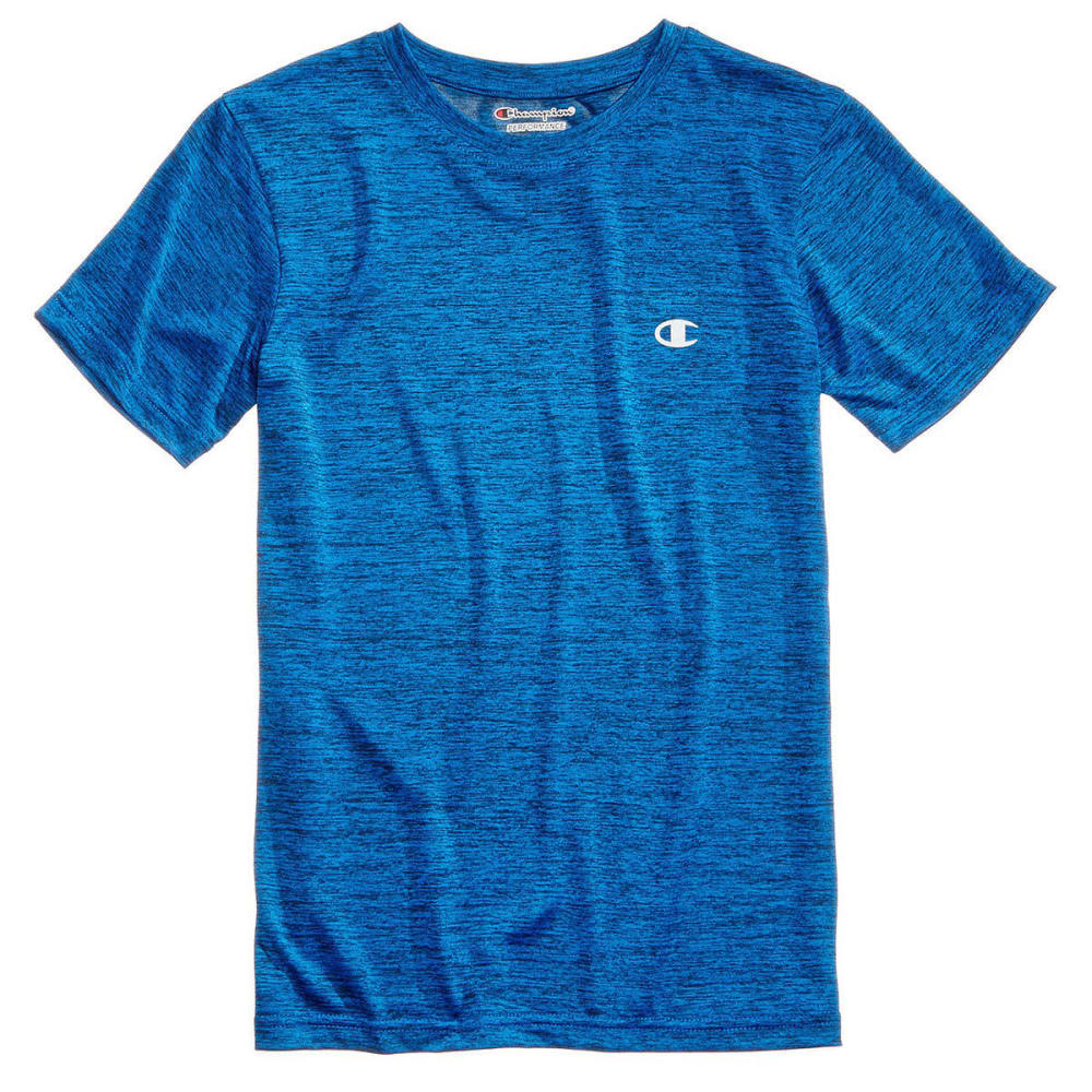 CHAMPION Little Boys' Linear Heather Athletic Short-Sleeve Tee - AWESOME BLUE